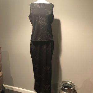 🖤2pc women's shirt and skirt